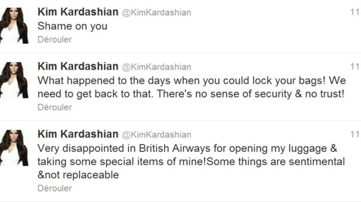 Kim Kardashian accuse British Airways de vol