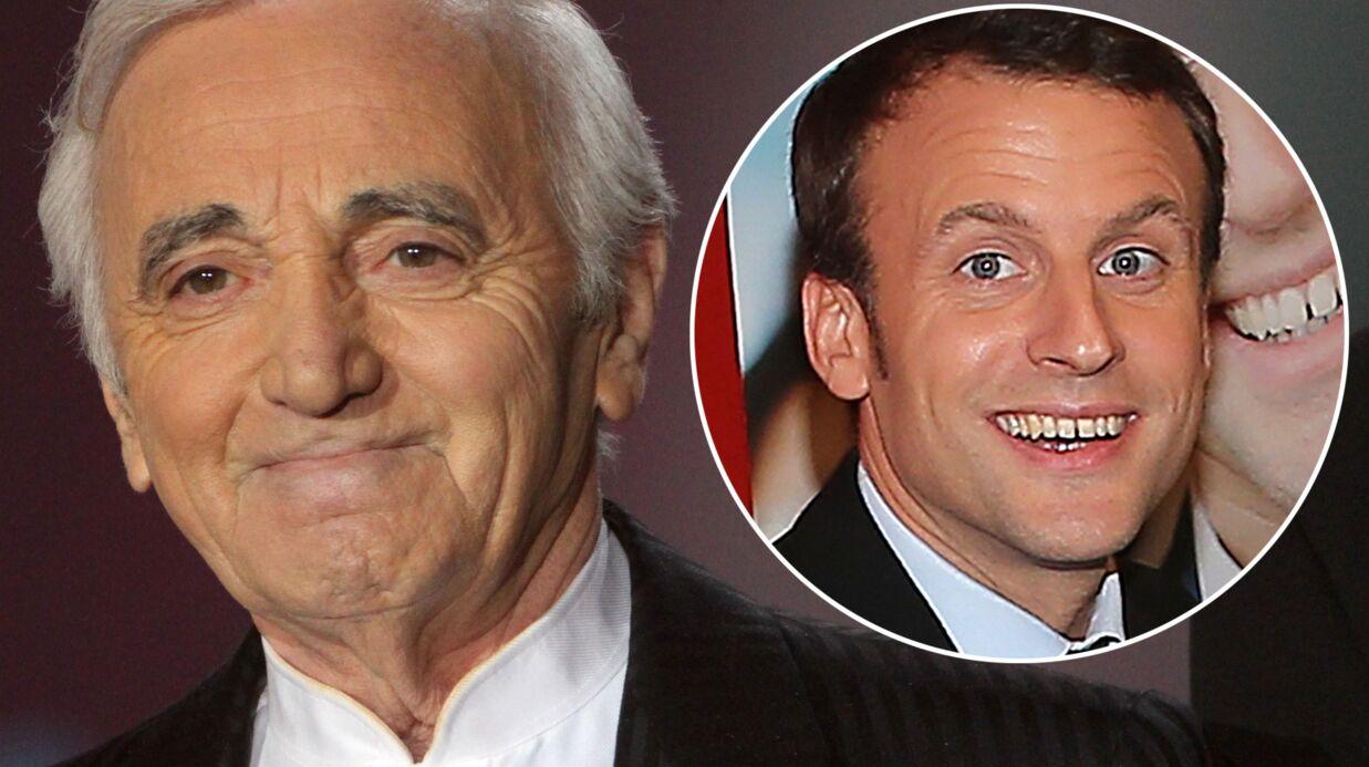 La drôle de mise en garde de Charles Aznavour à Emmanuel Macron en l'invitant à son concert