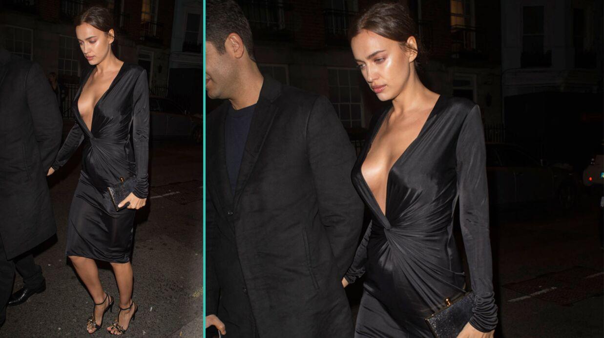 PHOTOS Irina Shayk très sexy en robe ultra décolletée et sans soutien-gorge
