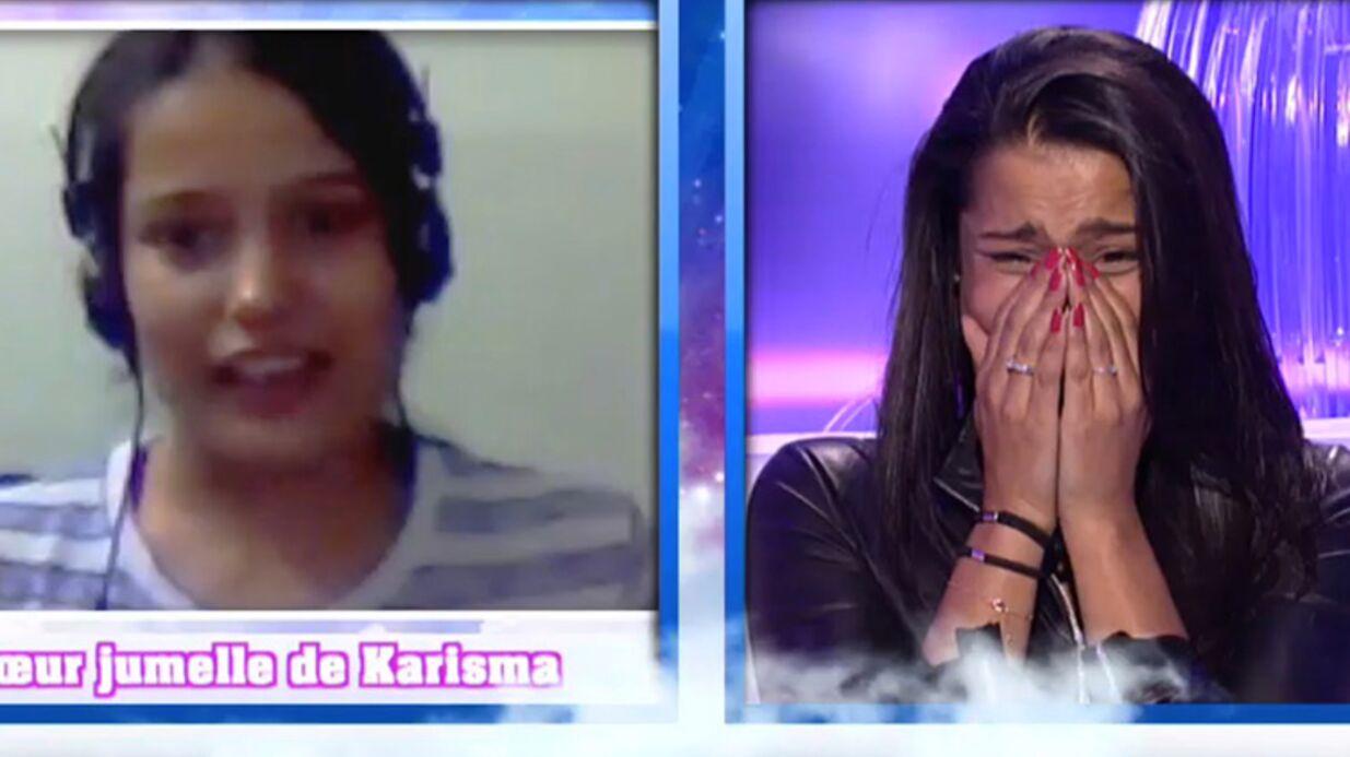 Secret Story 9: Karisma voit sa soeur jumelle pour la première fois en plein prime!