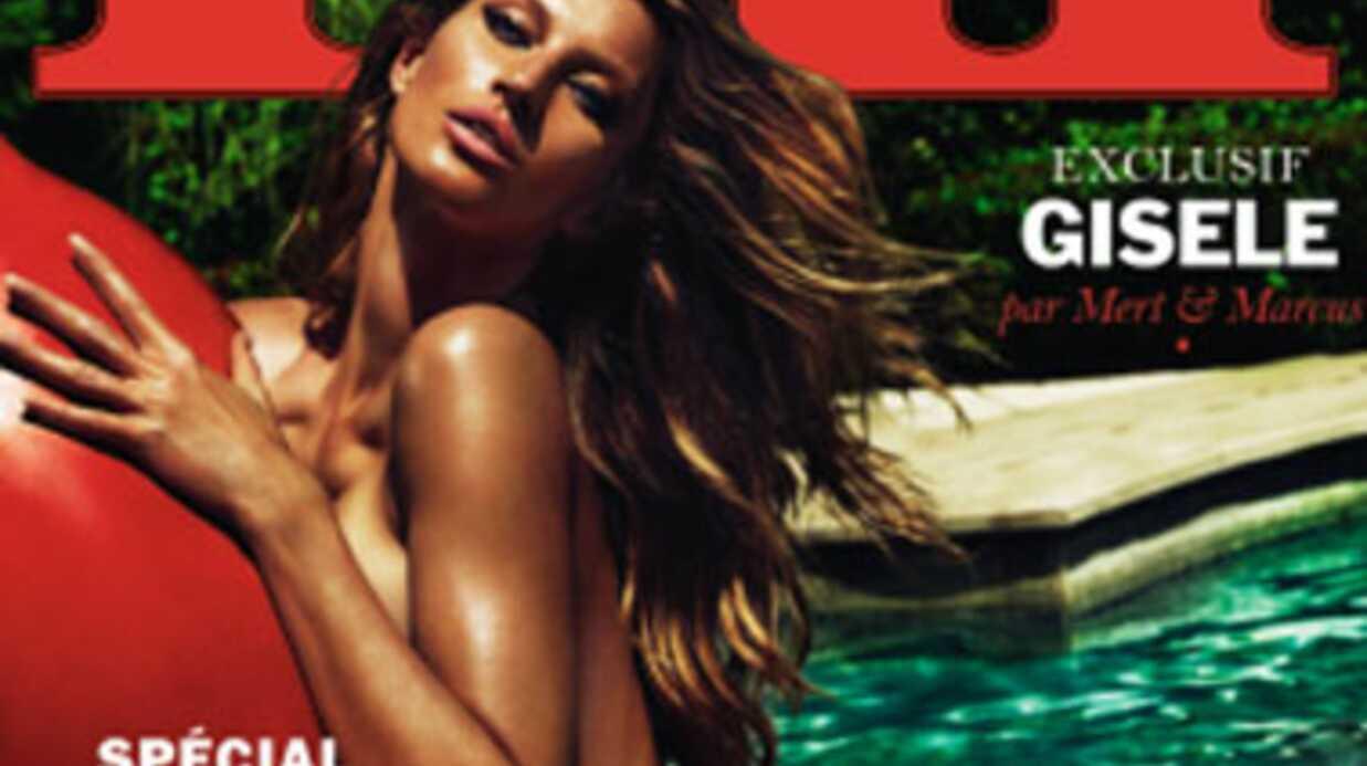PHOTO Gisele Bündchen pose nue pour la couverture du magazine Lui et c'est hot!