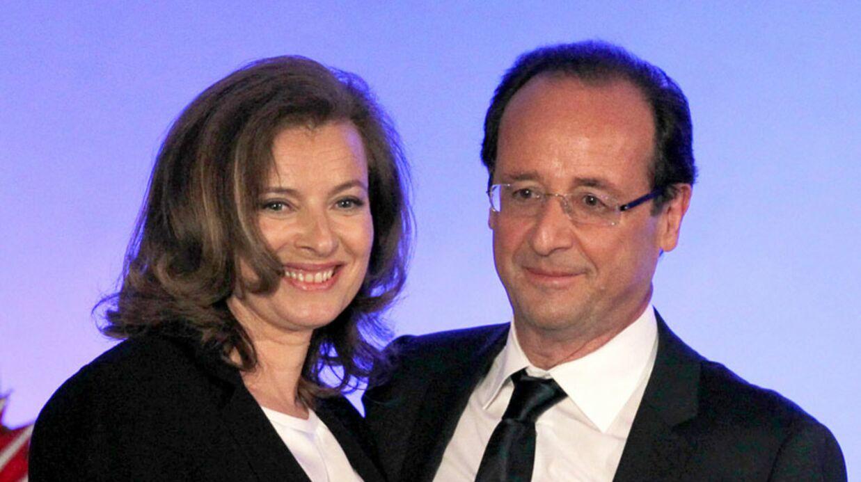 PHOTO Le baiser de Valérie Trierweiler à François Hollande avant le grand oral