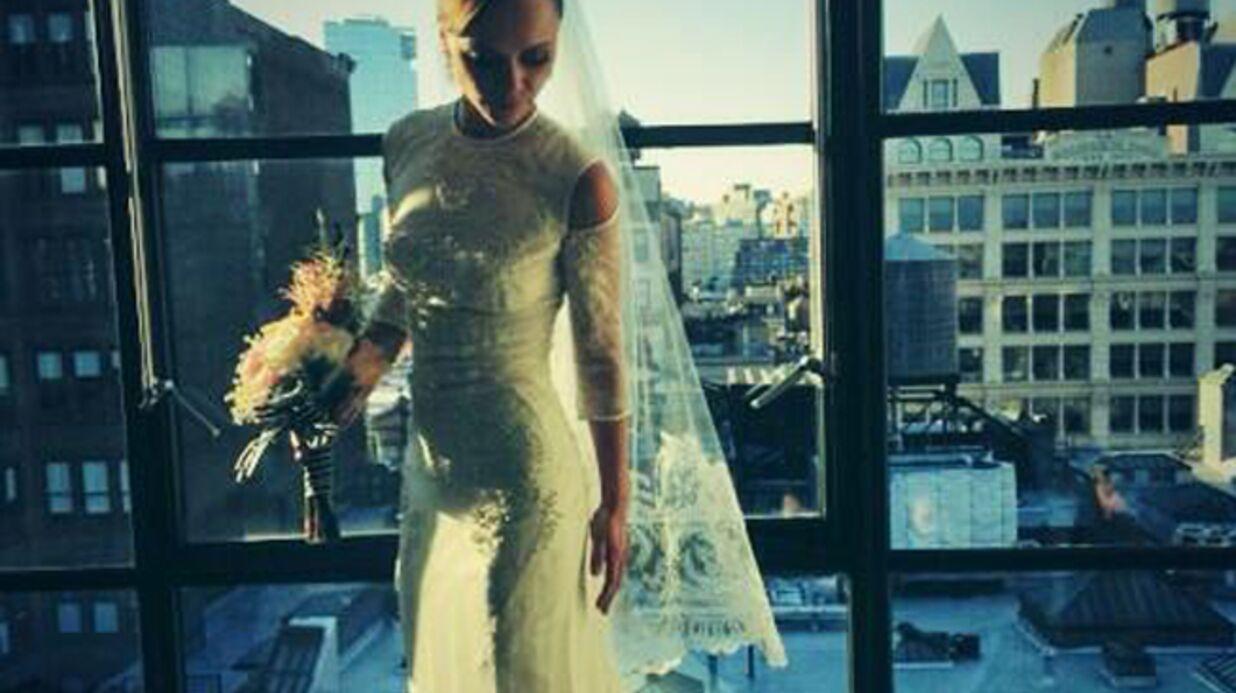 PHOTO Découvrez la superbe robe de mariée de Christina Ricci
