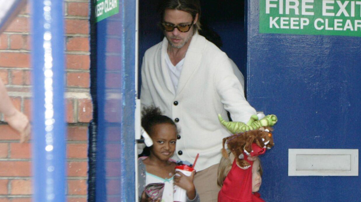 DIAPO Brad Pitt profite enfin de ses enfants