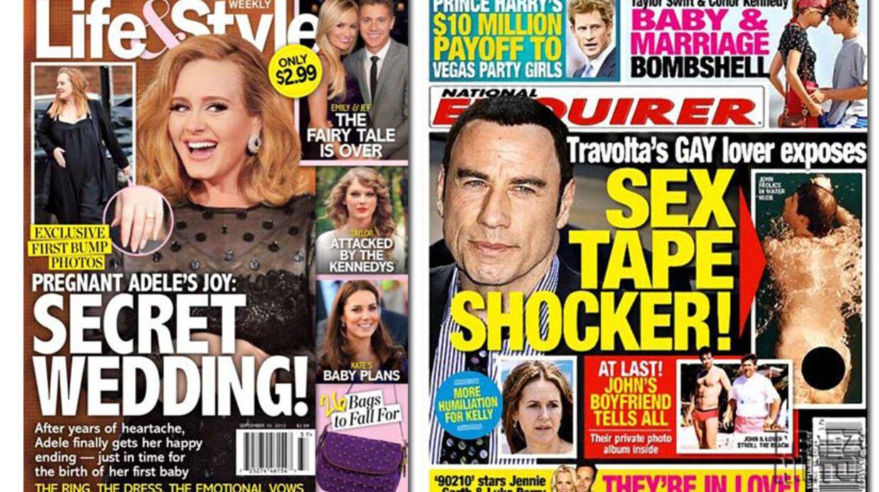 En direct des US: Travolta et Harry nus, Adele mariée
