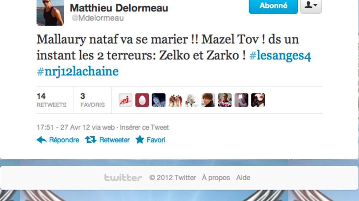 Matthieu Delormeau confirme le mariage de Mallaury Nataf