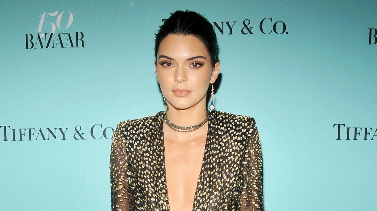 PHOTO Kendall Jenner pose topless en cuissardes géantes