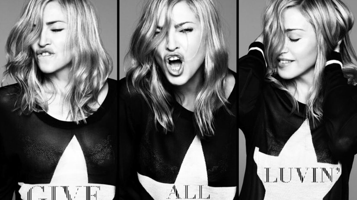 PHOTO Madonna rajeu­nit sur la pochette de son nouveau single