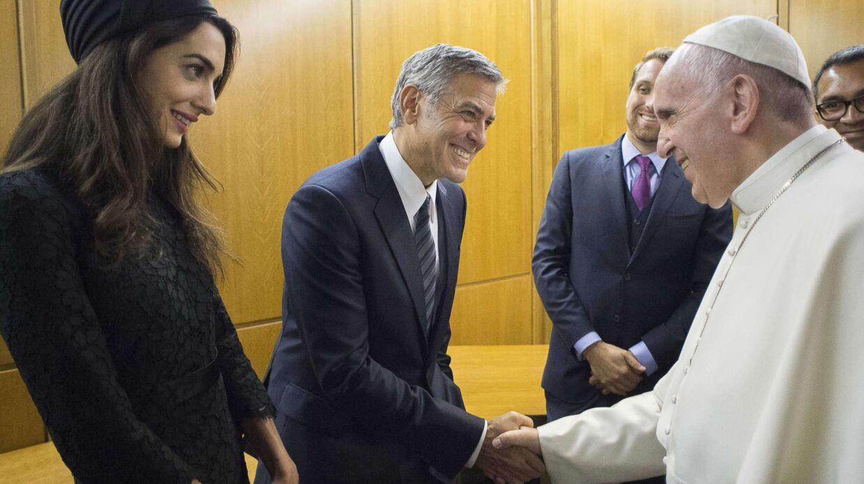PHOTOS Amal et George Clooney ont rencontré le Pape au Vatican