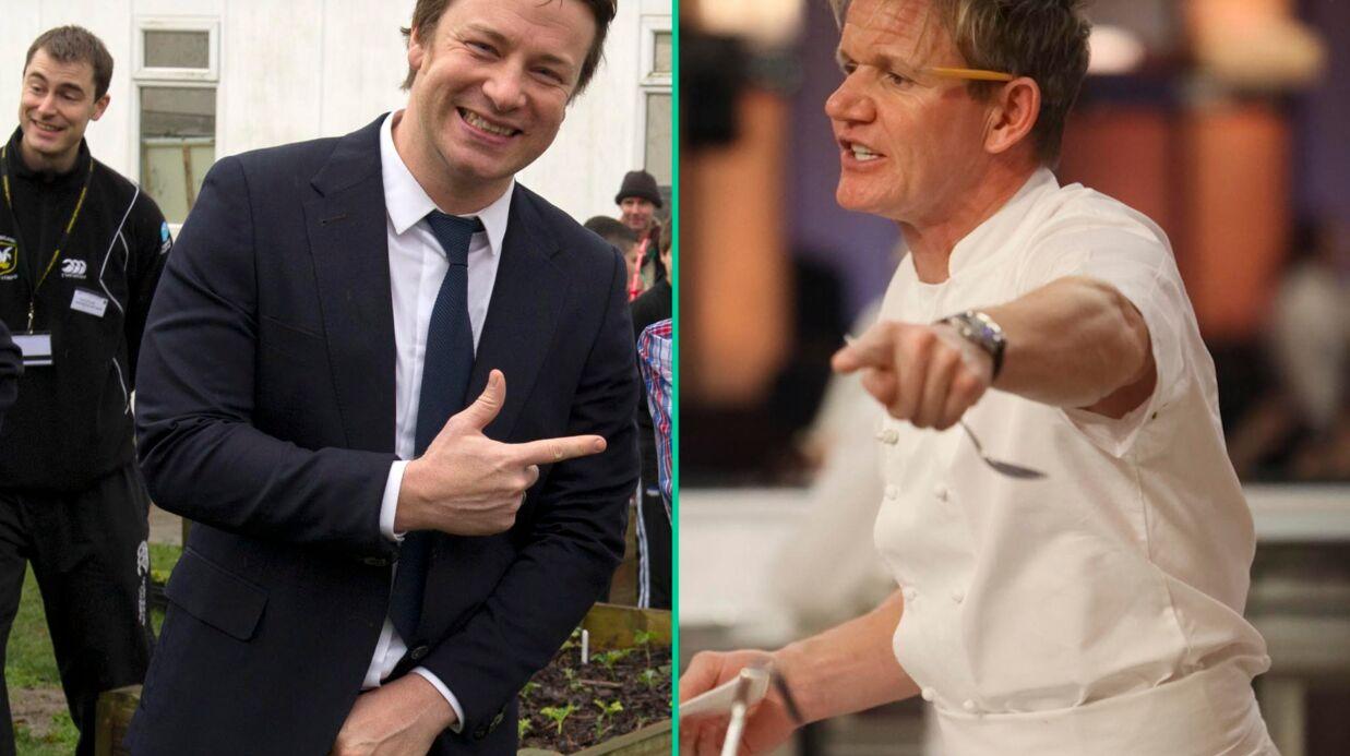 Gordon Ramsay et Jamie Oliver: c'est la guerre entre les deux chefs!