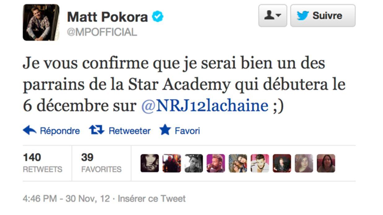 M Pokora sera le parrain de la Star Academy de NRJ 12