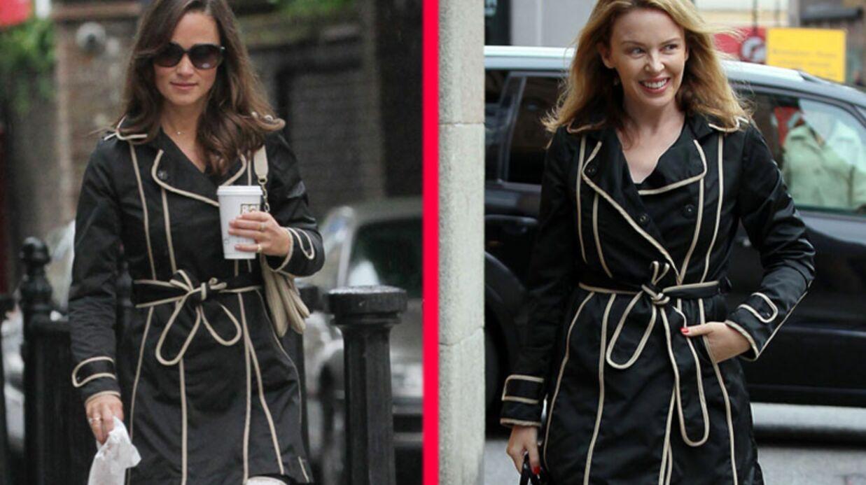 LOOK Pippa Middleton et Kylie Minogue portent le même trench