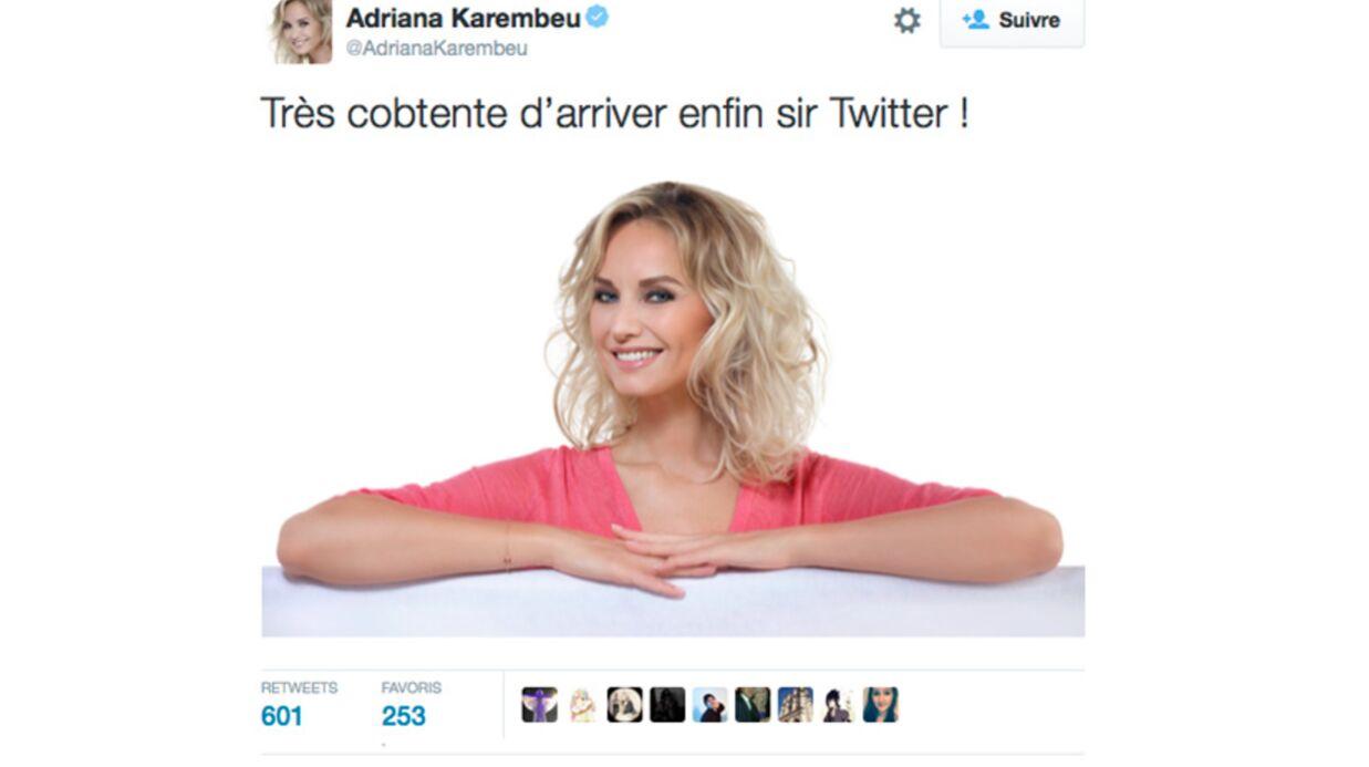 Adriana Karembeu débarque sur Twitter: un premier message tout raté
