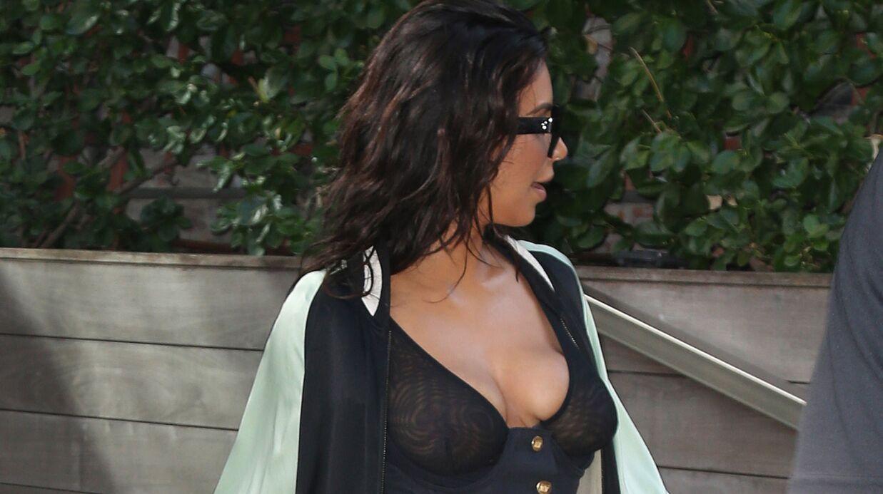 PHOTOS Kim Kardashian: en soutien-gorge transparent dans la rue, elle dévoile tout