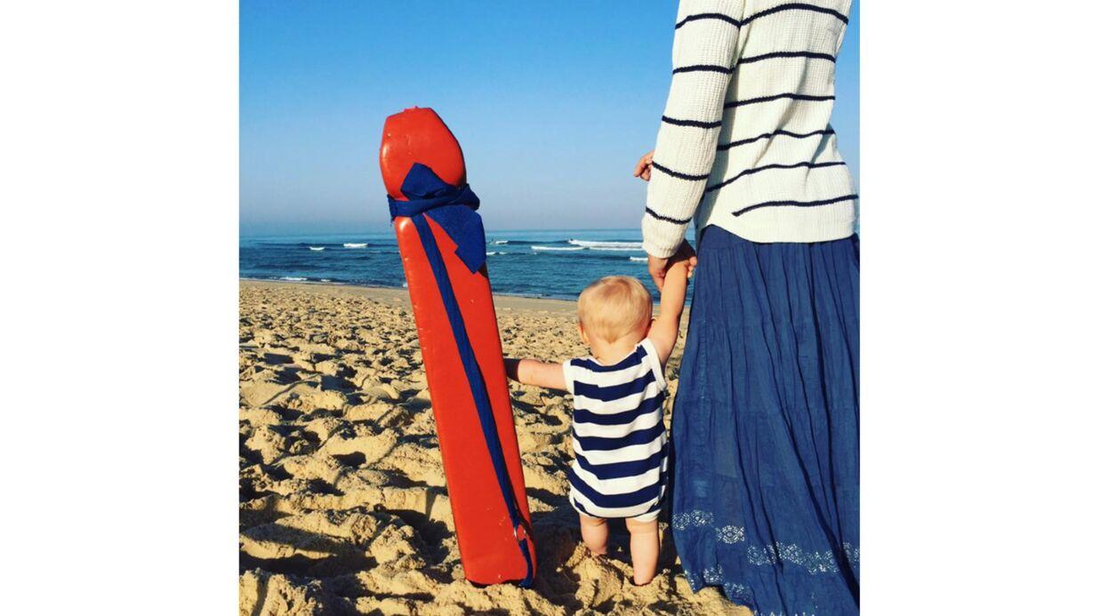 Natasha St-Pier: sa jolie photo avec son petit Bixente à la plage