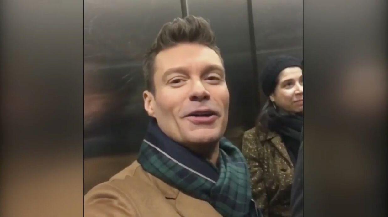 VIDEOS Coincé dans un ascenseur avant une interview, l'animateur Ryan Seacrest partage sa mésaventure
