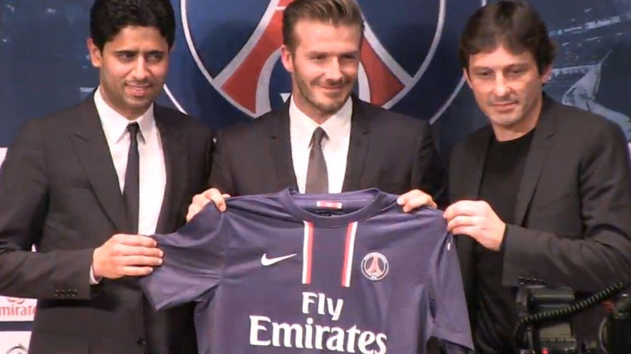 David Beckham signe au PSG mais s'installe seul à Paris