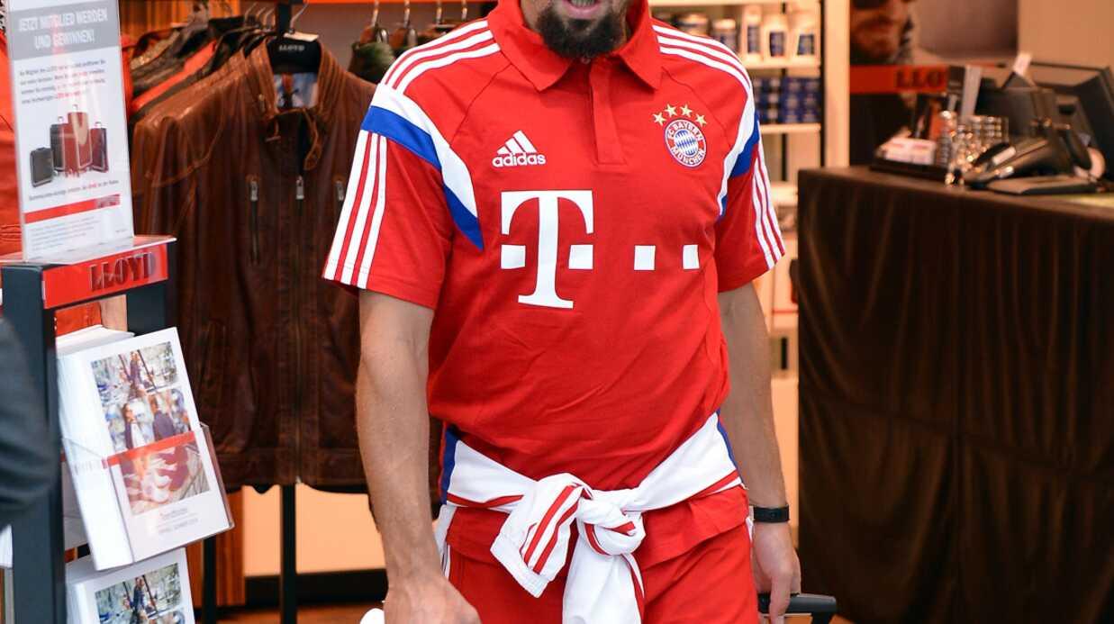 Le nouveau look de Franck Ribéry: sa femme Wahiba le préfère barbu