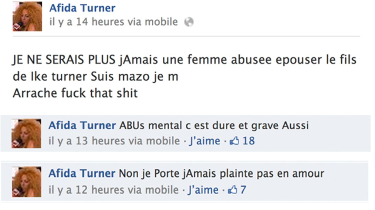 Afida Turner veut quitter son mari car elle est «une femme abusée»