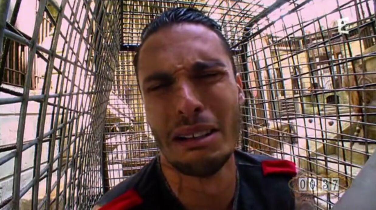 VIDEO Baptiste Giabiconi attaqué par des tigres dans Fort Boyard, il pète les plombs