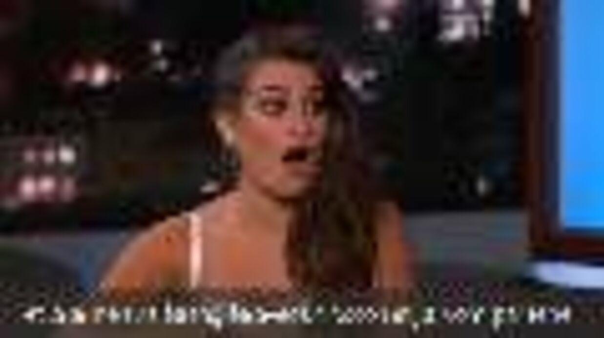 VIDEO Lea Michele a vomi en chantant La Reine des neiges