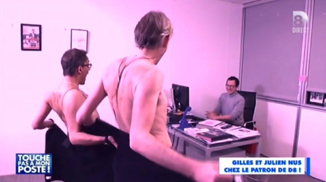 VIDEO Julien Courbet et Gilles Verdez (presque) nus en direct sur D8