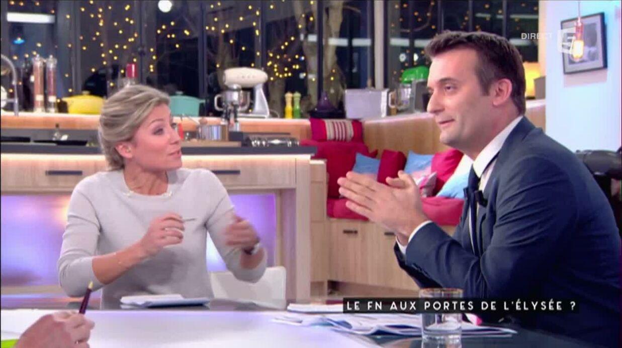 VIDEO Enorme accrochage entre Anne-Sophie Lapix et Florian Philippot dans C à vous