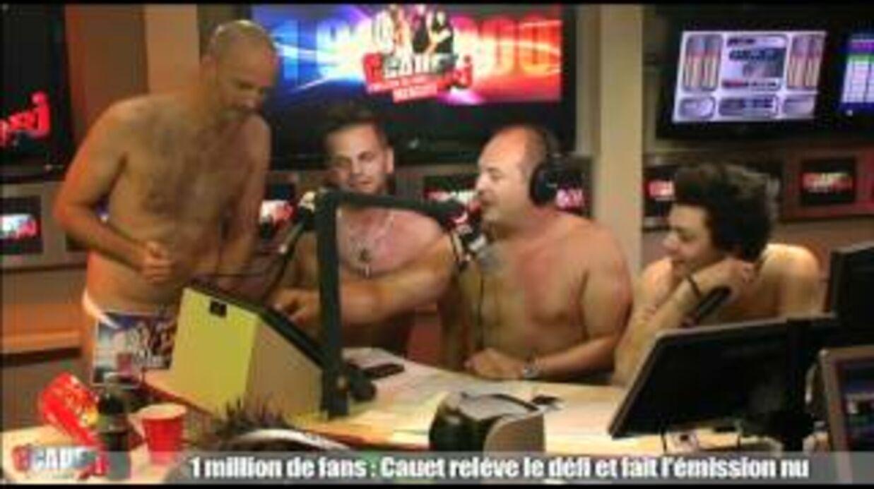 VIDEO Cauet et Matt Pokora font une émission entièrement nus