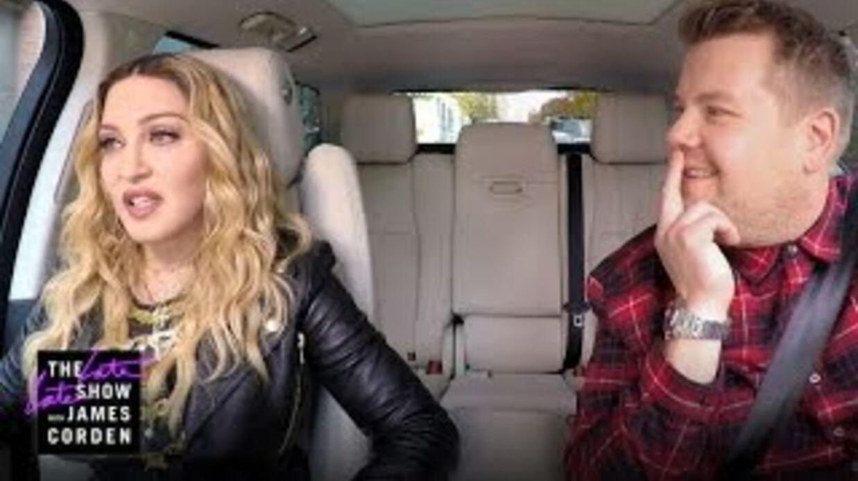 VIDEO Madonna: son twerk sexy dans le Carpool Karaoke de James Corden
