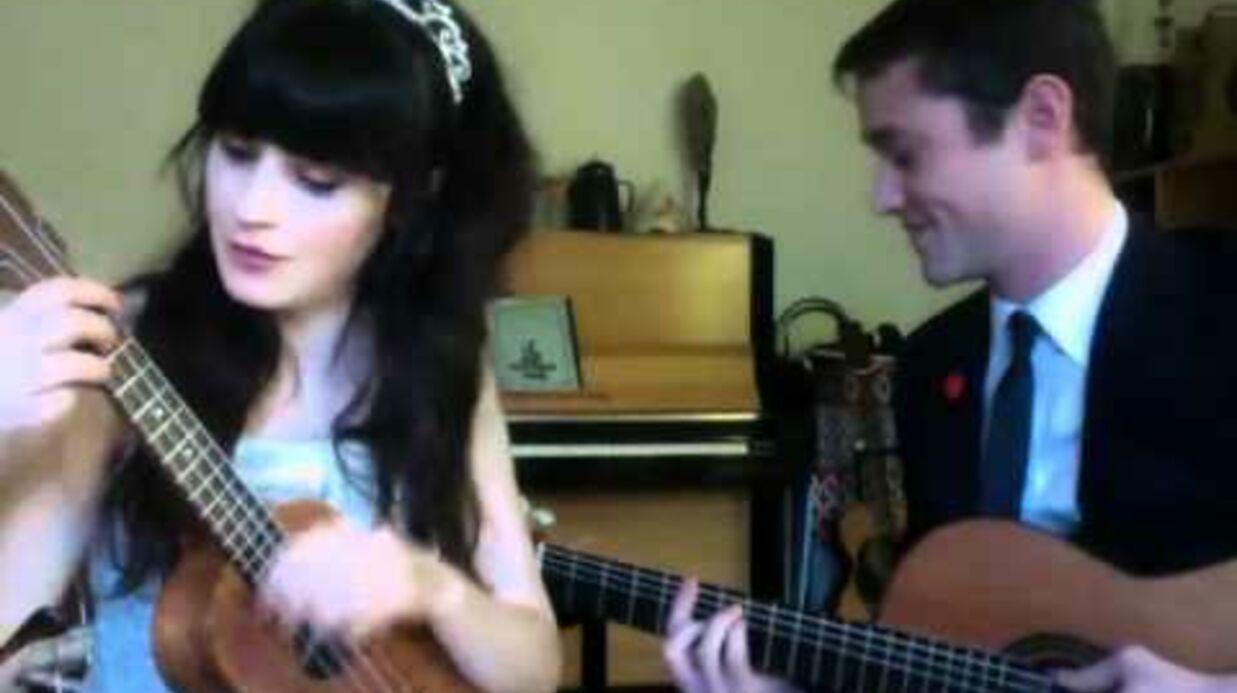 Zooey Deschanel et Joseph Gordon-Levitt ensemble (pour chanter)