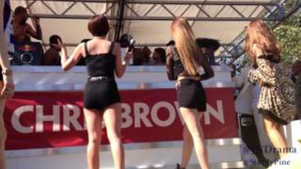 VIDEO Chris Brown interrompt un groupe en plein concert