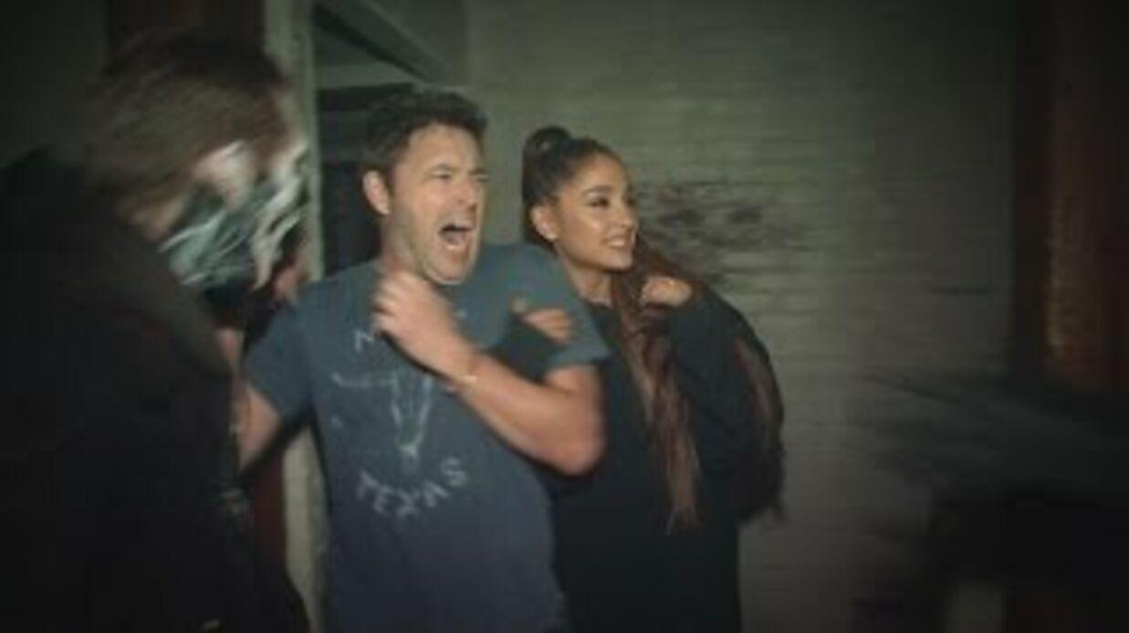 VIDEO Ariana Grande terrorisée dans une maison hantée, le résultat est comique