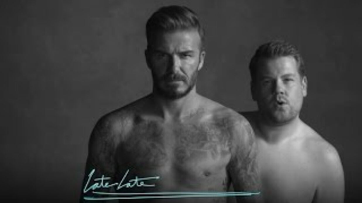 VIDEO En boxer, David Beck­ham se moque de sa pub H&M