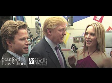 Polémique Une photo de Donald Trump utilisée pour promouvoir une conférence sur les agressions sexuelles