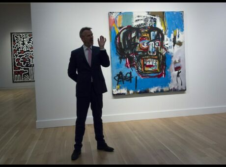 Record Un tableau de Basquiat adjugé à…