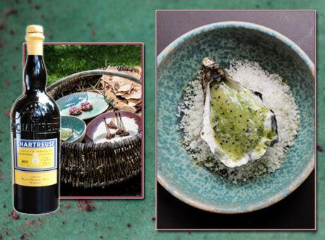 Recette Huitre d'Isigny, kiwi et Chartreuse