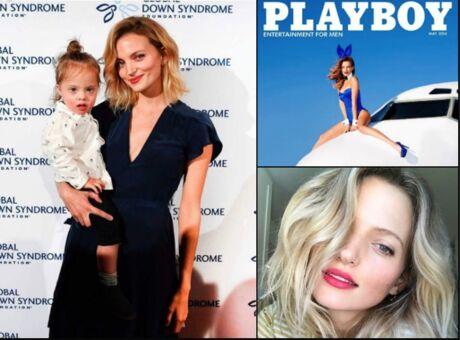 Diaporama Amanda Booth, le top qui pose en Une de Vogue avec son fils trisomique