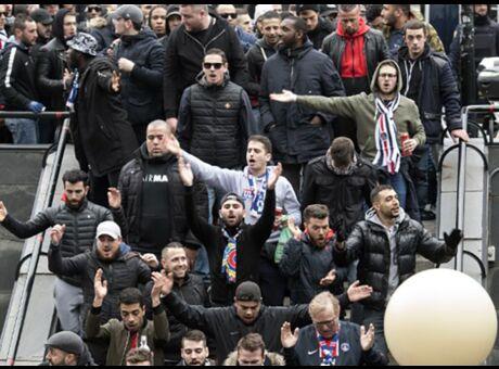 Real-PSG Les ultras parisiens mettent le feu dans le métro de Madrid (Vidéo)